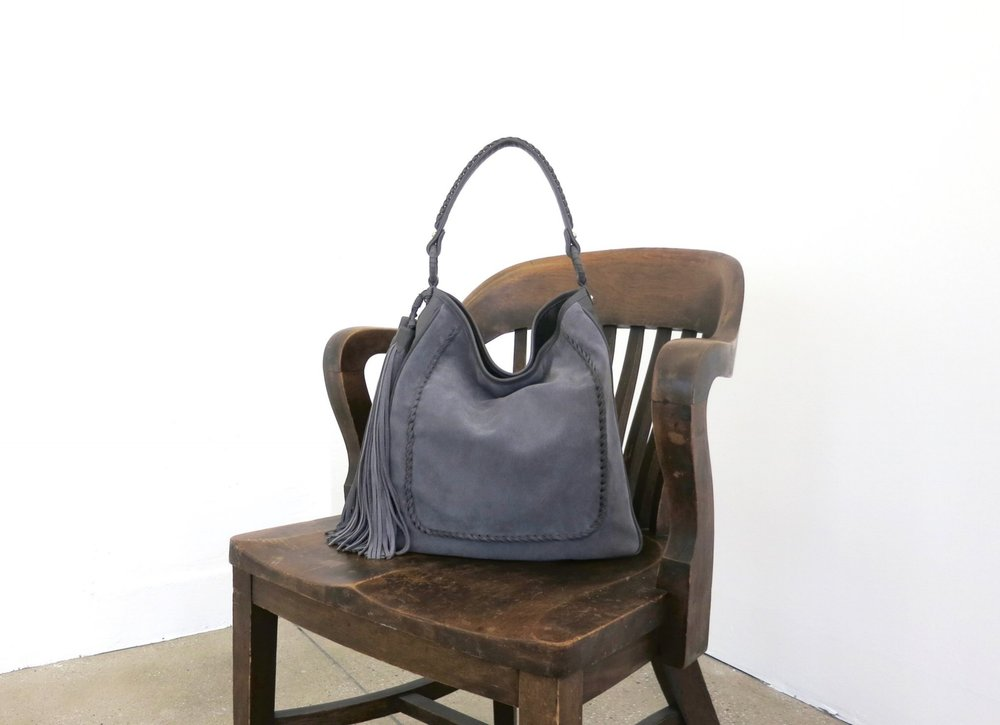 Anthony Luciano Grace Hobo Gray Suede