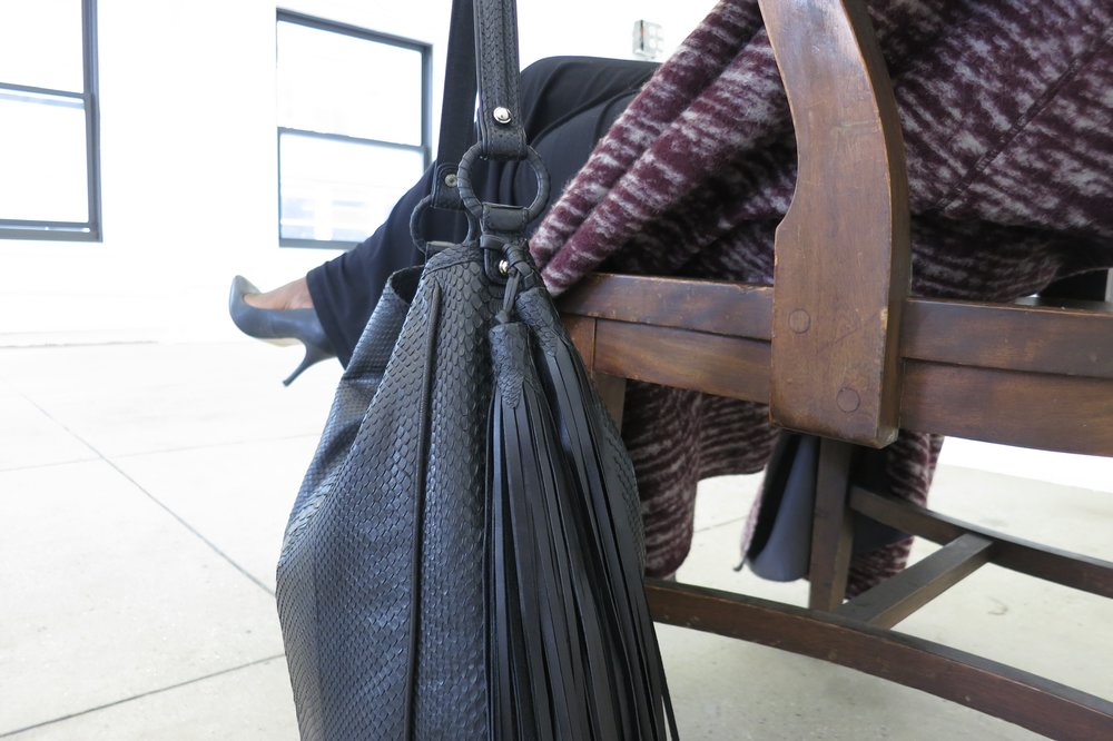 Anthony Luciano Grace Hobo Black Python
