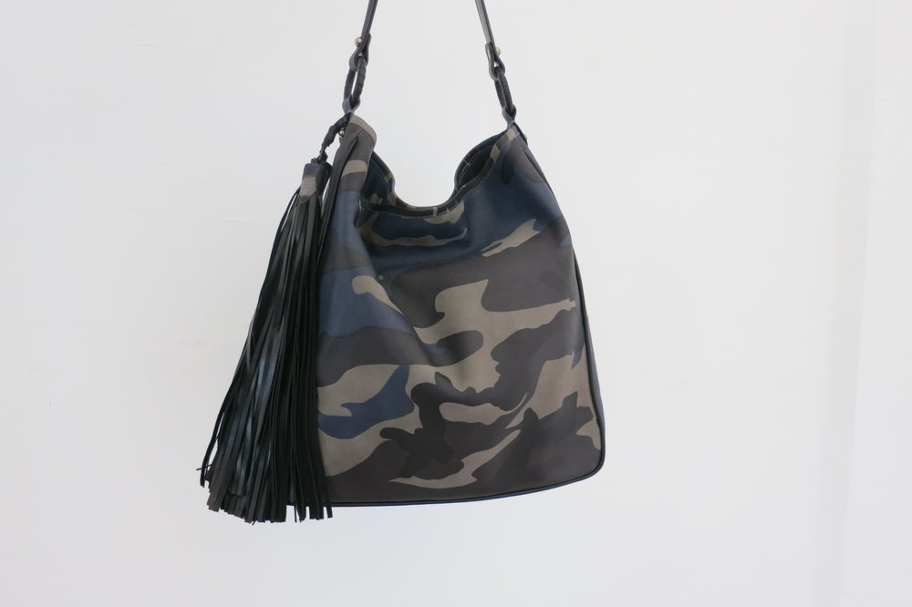 Anthony Luciano Grace Hobo Camo Leather