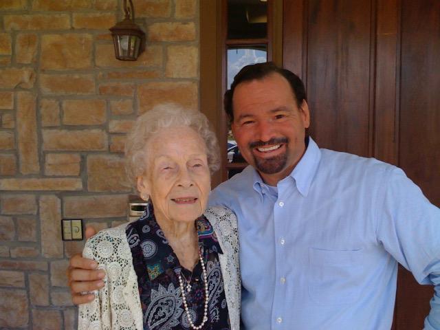 Grandma Jo Singer and her grandson, Stacy