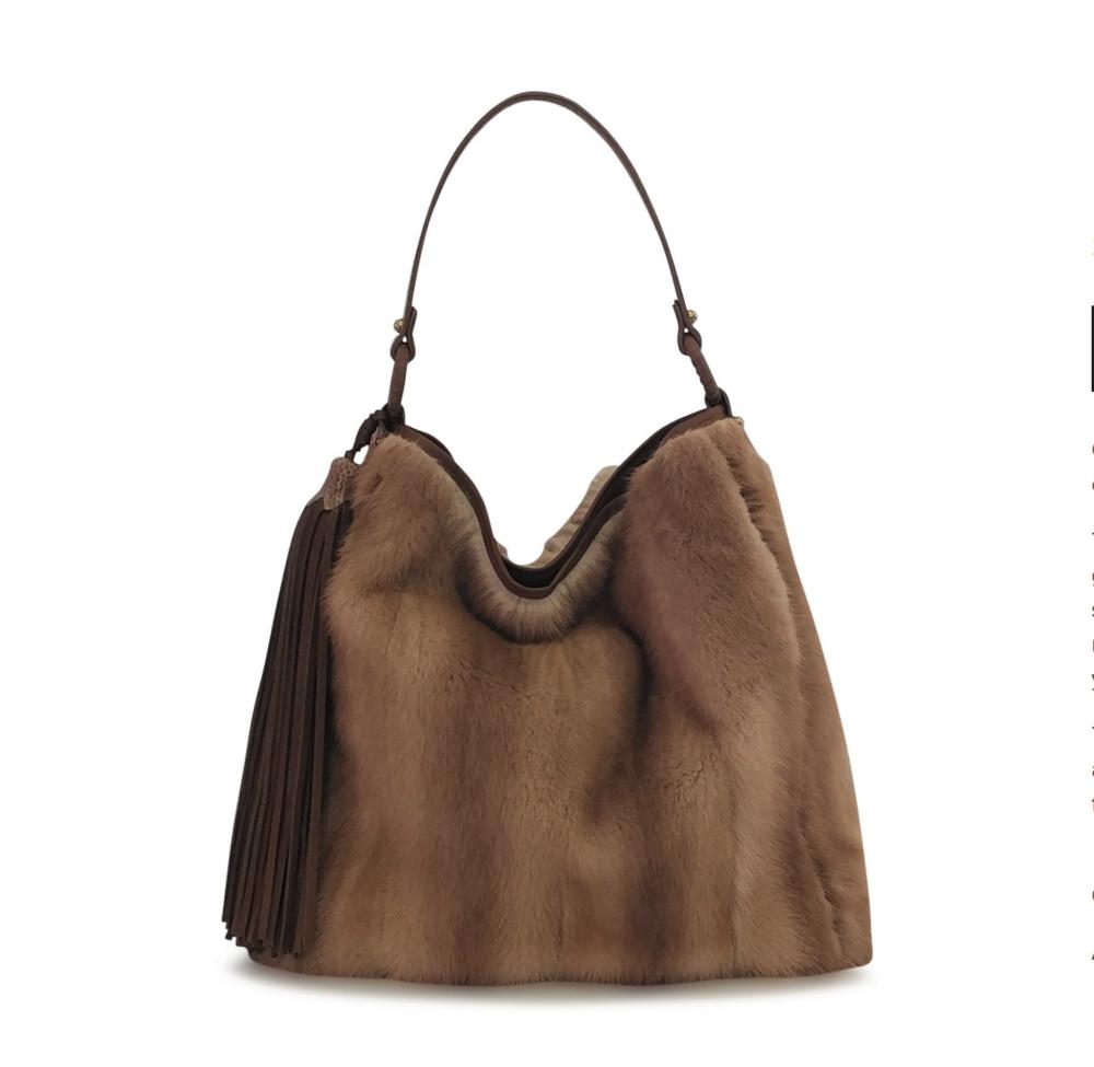 Grace Mink Hobo Handbag