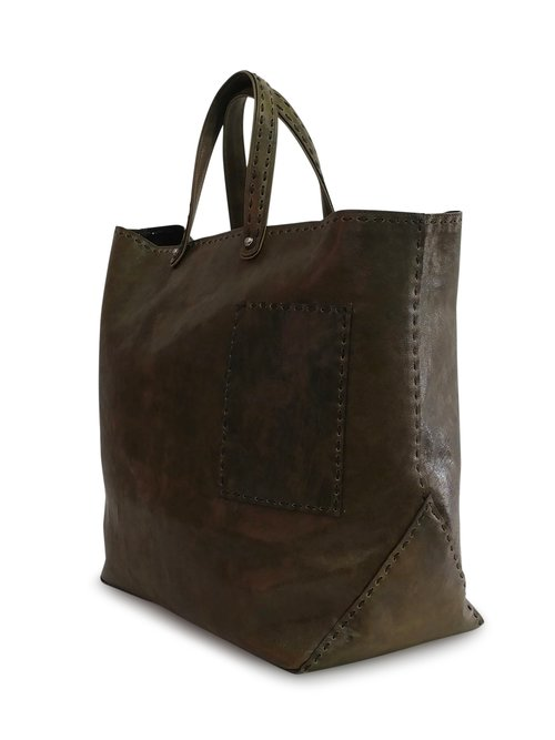 Lefteri Tote - Olive Glazed Leather — ANTHONY LUCIANO