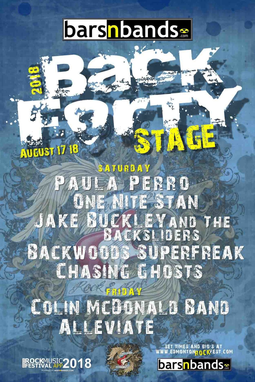 2018 BarsnBands.com Back Forty Stage