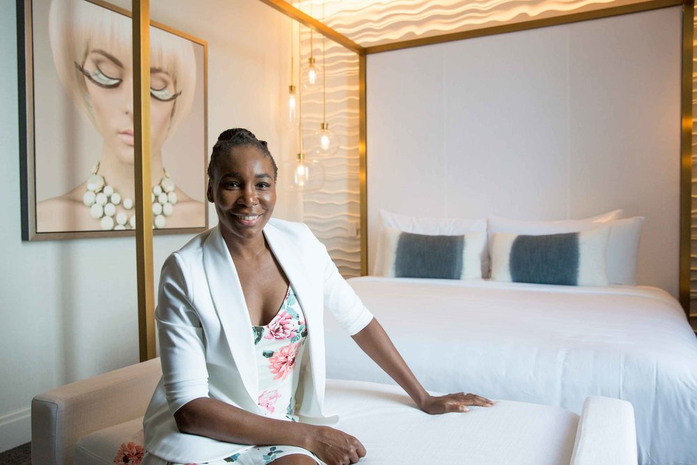 Venus Williams of V Starr Interiors in the V Suite Midtown Athletic Club