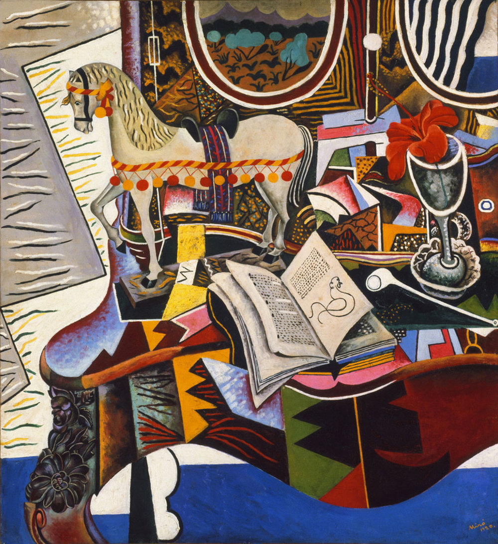 Joan_Miró,_1920,_Horse,_Pipe_and_Red_Flower,_oil_on_canvas,_82.6_x_74.9_cm,_Philadelphia_Museum_of_Art-PD-US.jpg