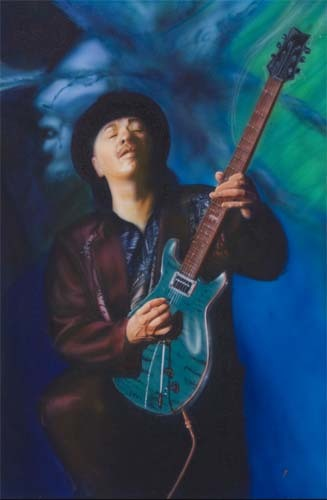 Carlos Santana by Angie Villegas