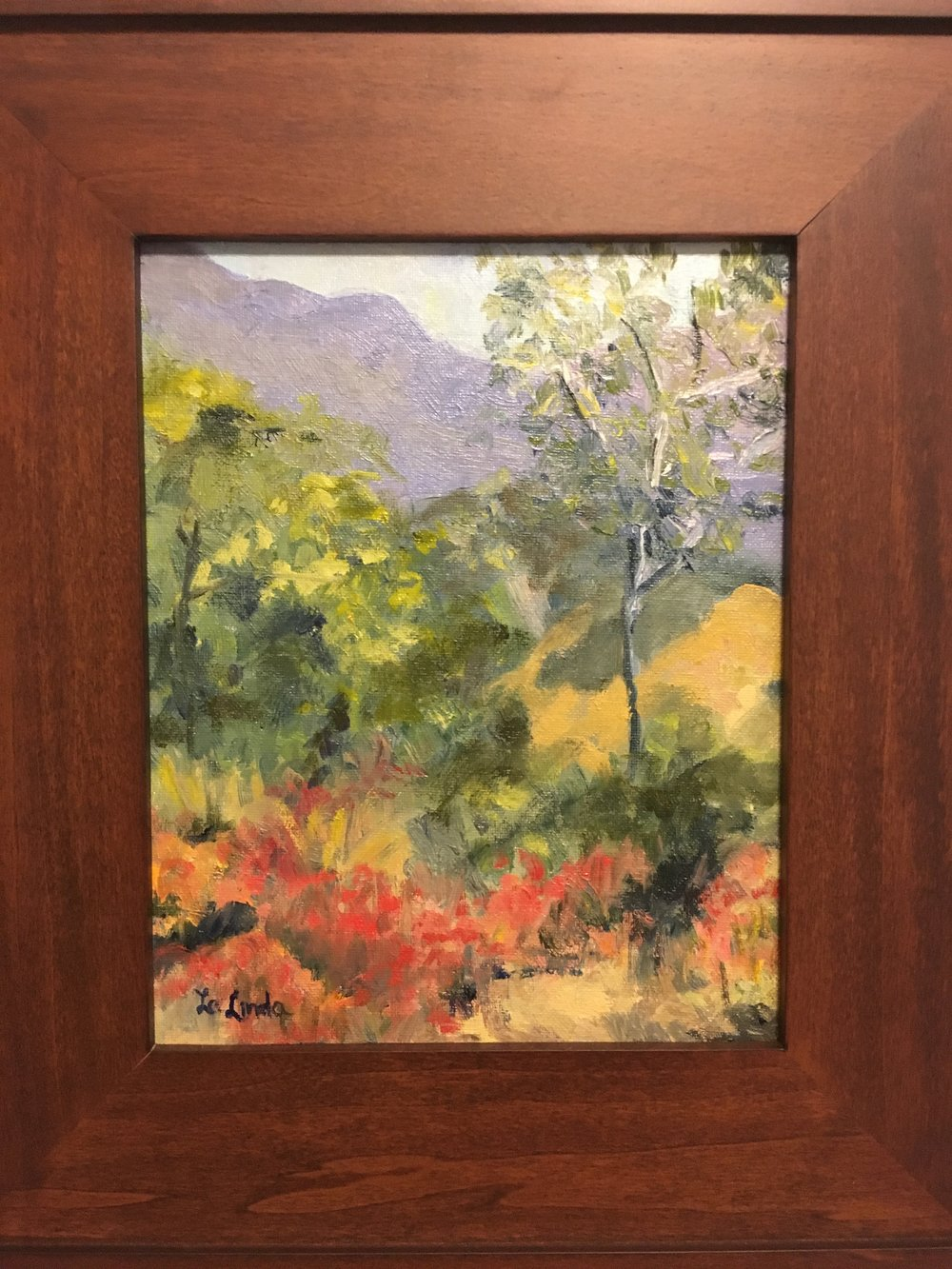 "Pretty Day, Oil 8x10"" $125 (framed)"