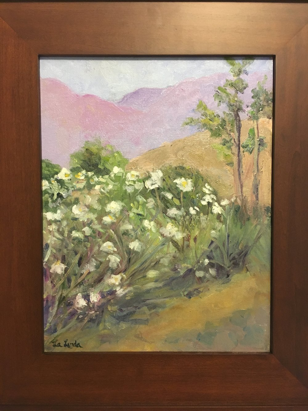 "Wildflowers, oil 11x14"" $225 (framed)"