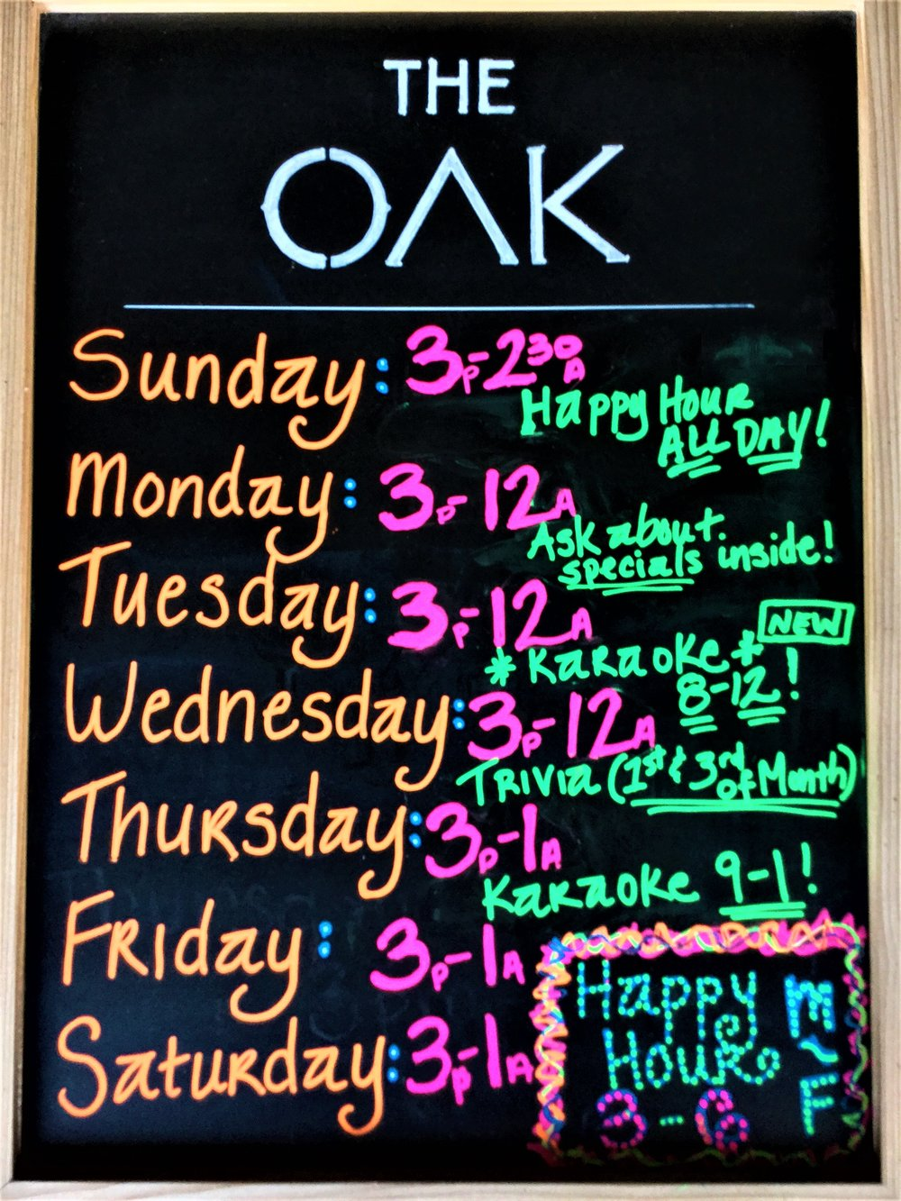 The Oak Daily Events.JPG