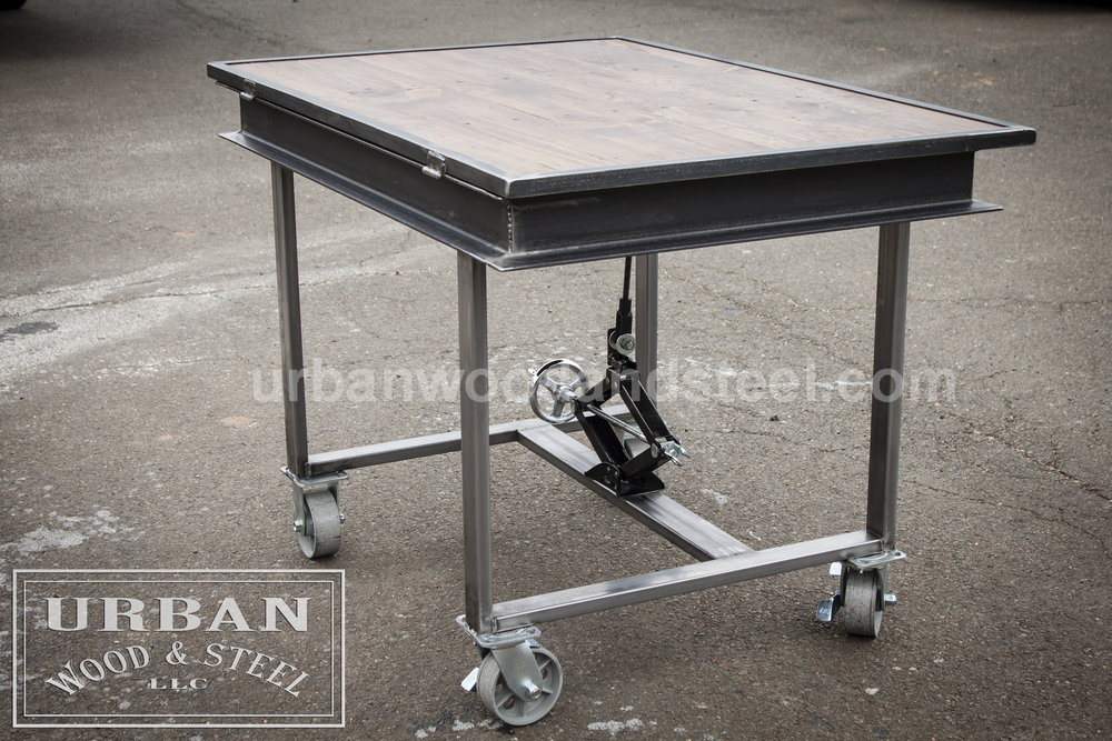 Beau Adjustable Industrial Drafting Table