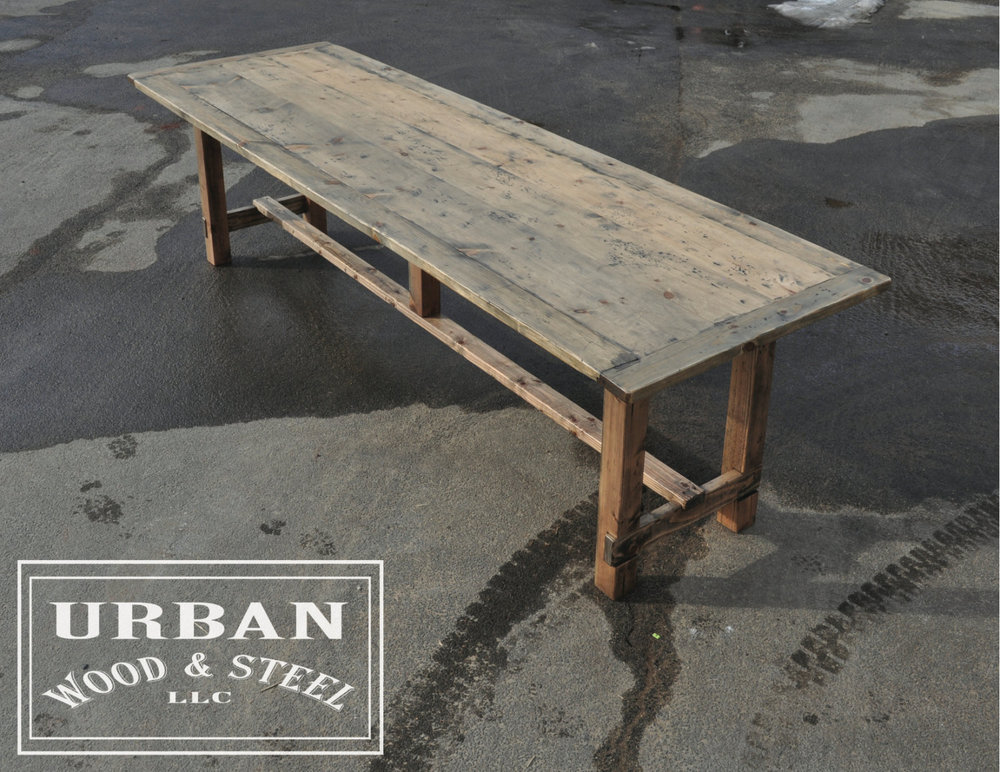 Reclaimed Pine Dining Farm Table