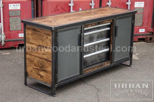 Sideboard Industrial manhattan industrial buffet table wood steel llc