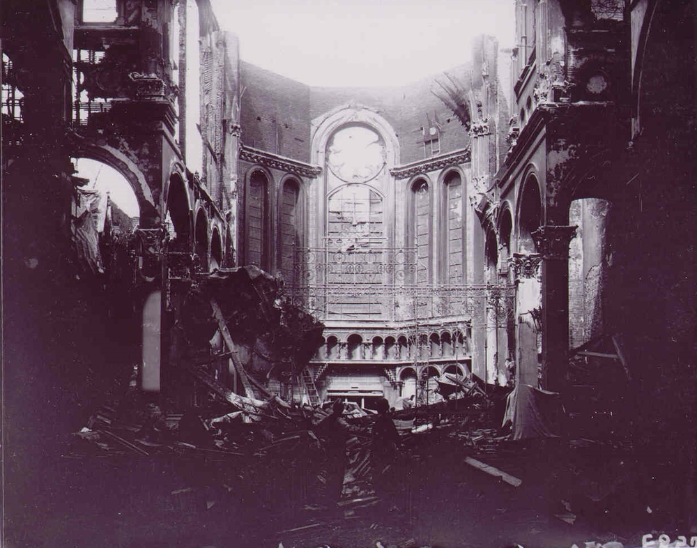 The Cathedral after the 1903 fire.