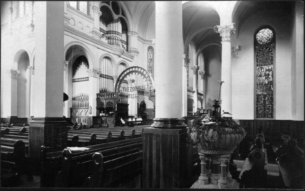 The first Cathedral interior, 1885