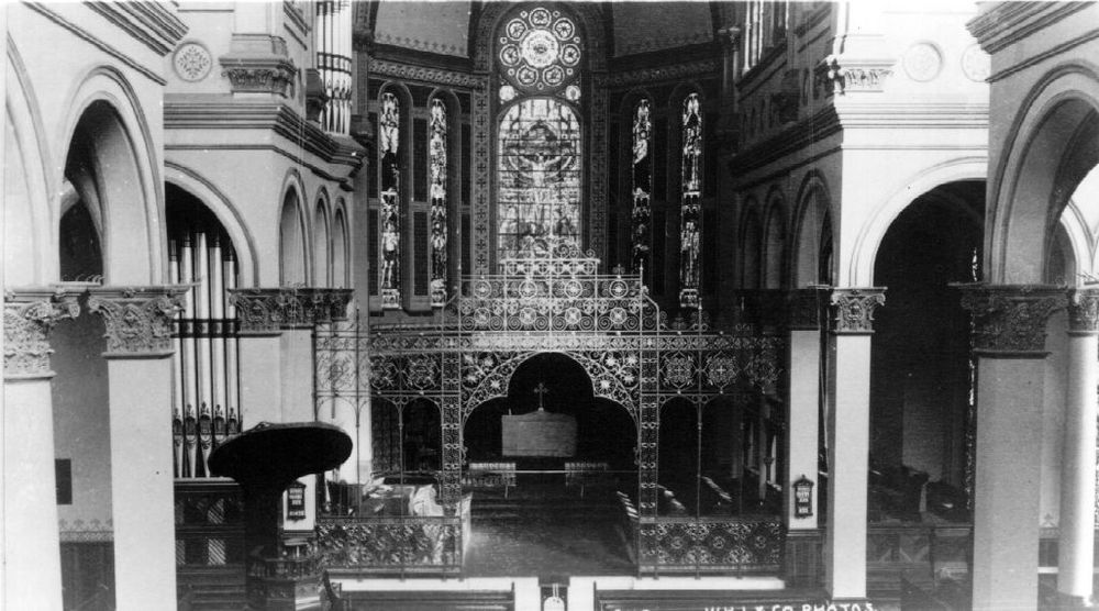 The first Cathedral interior, 1889