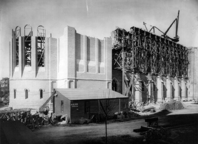 The second Cathedral under construction.
