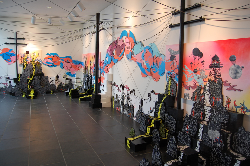 """""""Passageways"""" (Installation view) Jersey City Museum 2009 - Images Courtesy: Jersey City Museum 2009"""