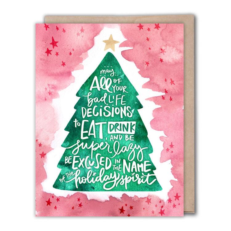 Bad life decisions christmas card fiber dye greeting cards bad life decisions christmas card m4hsunfo