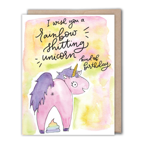 Greeting cards fiber dye greeting cards weddings business unicorn shit birthday card m4hsunfo