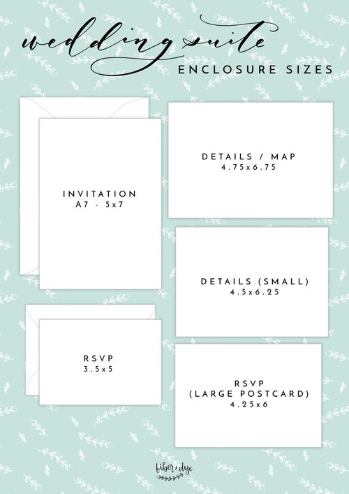 Invitation Enclosure Card Sizes Fiber Dye Greeting Cards