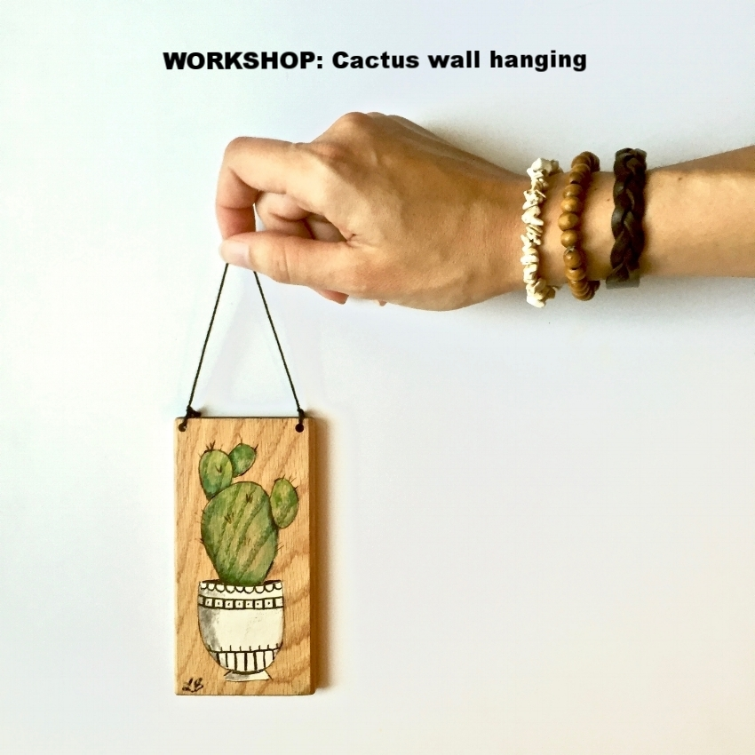 20.00 per artist   Date:  Saturday Oct. 15th, 6-8pm   Location : Audrey's Workshop   11649 N. Cave Creek Rd. in Phoenix, AZ.   Each participant will learn to create a hand painted cactus wall hanging for $20.  Cacti will be painted using acrylics with a choice of watercolor and/or wood burning techniques.   These pieces of art are created on wood scraps which have been rescued before heading to the landfill.  Because of this eco-friendly concept,  please note that pieces of wood will vary slightly in size and shape . (But, you will have your pick!)   Participants will have the option to purchase and create more pieces at the event.  Additional pieces will range from $5 to $15.  (Cash or credit accepted.)   Reserve your seat(s)  HERE.