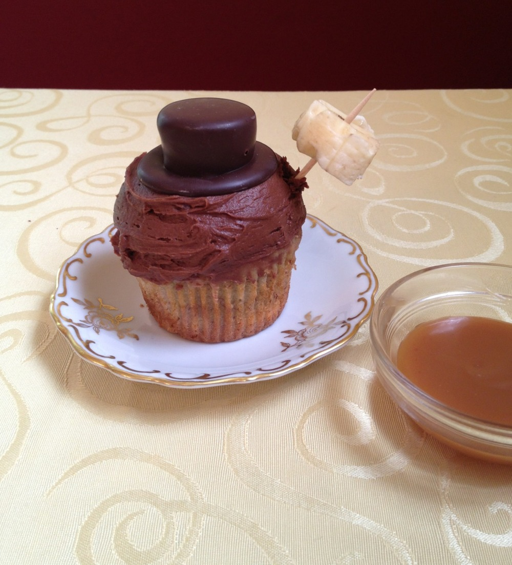 kaywaal :     the best photo subject is food      Instagram  photo from  KayWaal  of the Banana Caramel Cupcake. Look forward to the recipe in The Chocolate Goddess cookbook!
