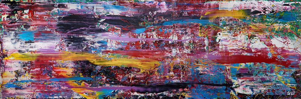 """Nelson Mandela   - 2013 – Acrylic on canvas. 60"""" × 180""""."""
