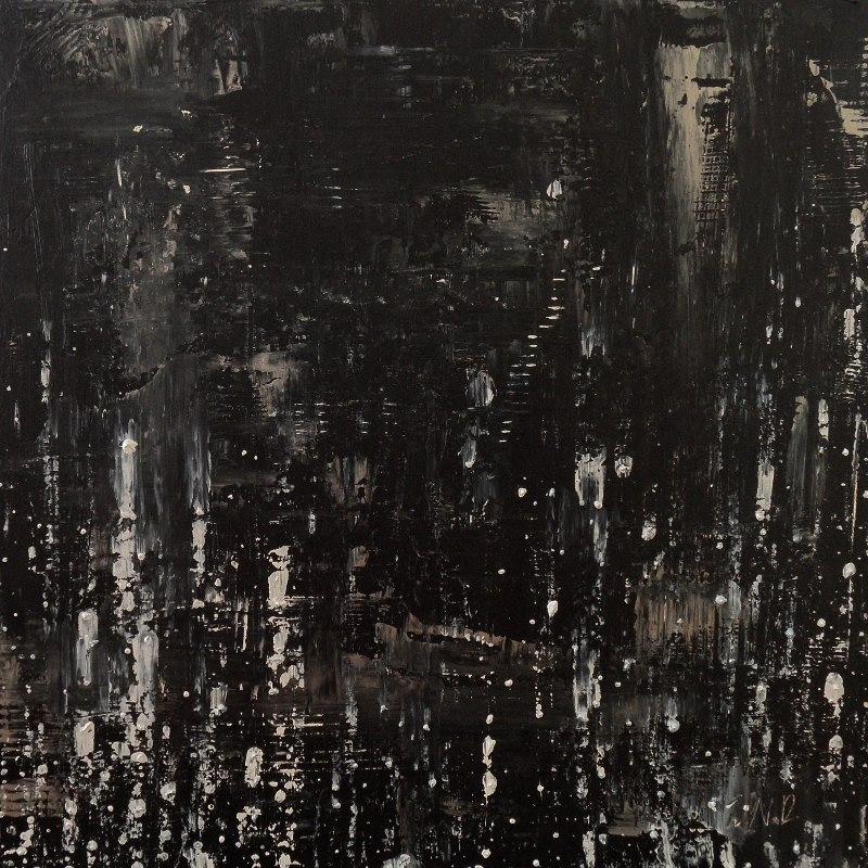 "Stars Fall   - 2011 - Acrylic on panel. 24"" × 24""."