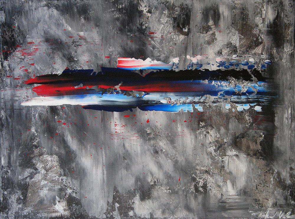 "One Week   - 2009 - Acrylic on canvas. 18"" × 24""."