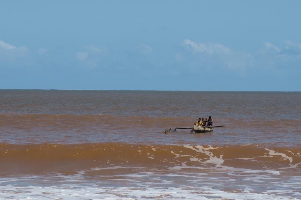 Fishermen return from a trip
