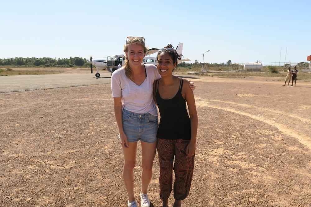 Alex & Pritika arriving in Maintirano, Madagascar