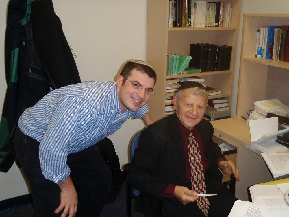 Professor Louis H. Feldman and the author.