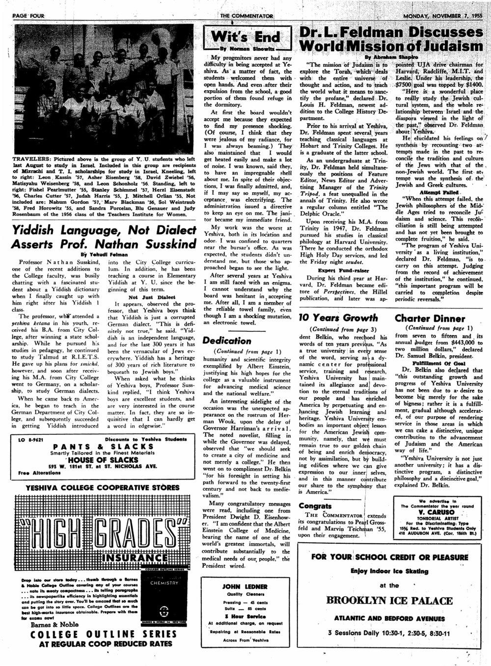 1955.11.7.TC--Dr. L. Feldman Discusses World Mission of Judaism.jpg