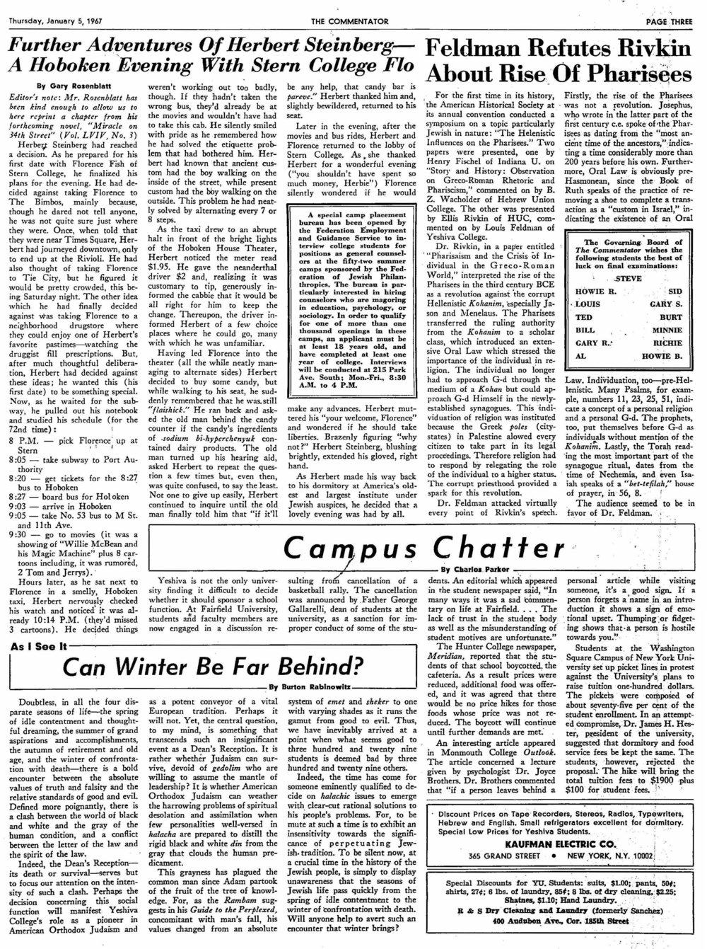 1967.1.5.TC--Feldman Refutes Rivkin About Rise of Pharisees.jpg