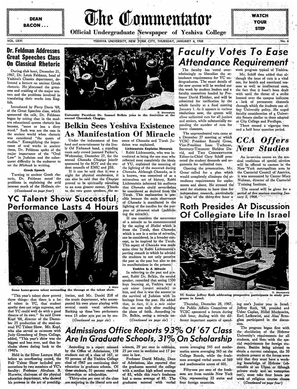 1968.1.4.TC--Dr. Feldman Addresses Great Speeches Class on Classical Rhetoric_Page_1.jpg