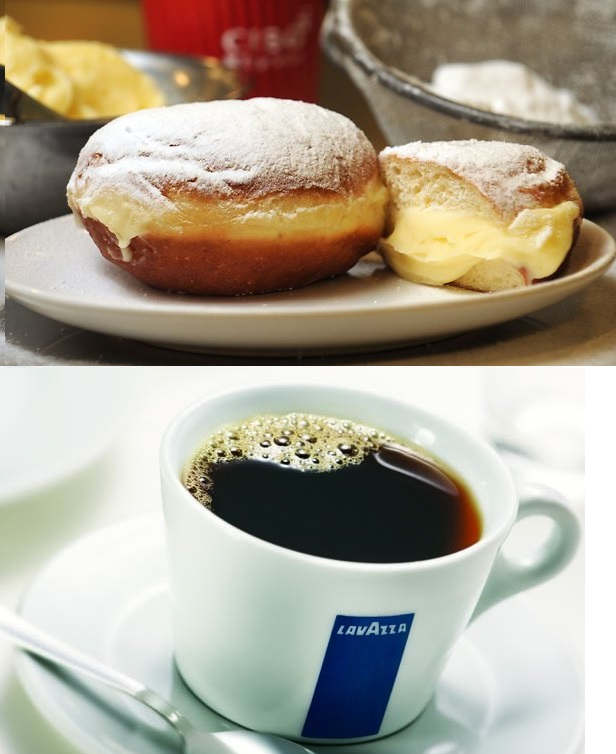 A warm, Italian-style donut with a cream center, Bombolini is a delicious morning, or anytime treat! Compliment this tasty treat with fresh ground Lavazza Coffee or any Espresso, Latte, or Cappucino.