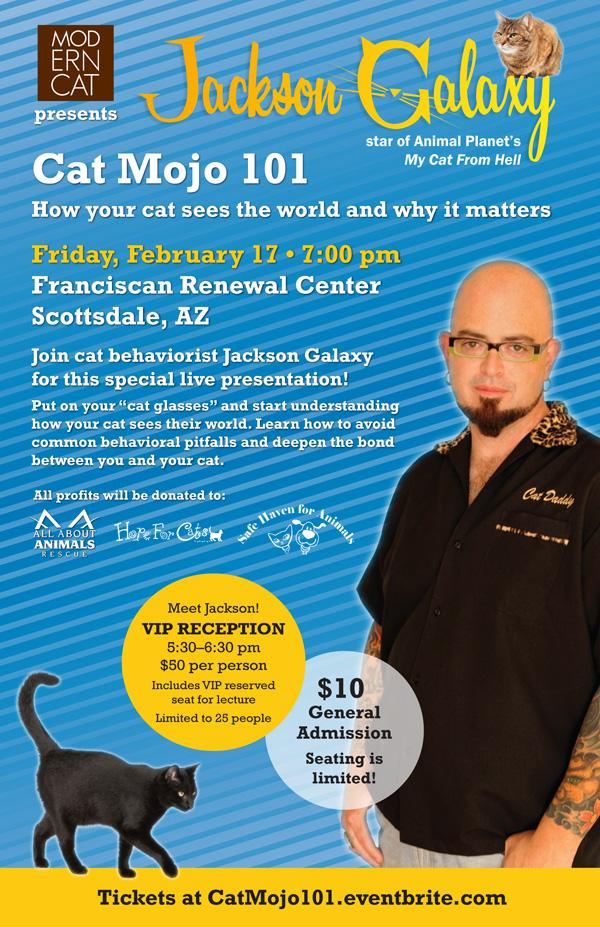 Moderncat presents Jackson Galaxy: Cat Mojo 101 in Scottsdale, Arizona