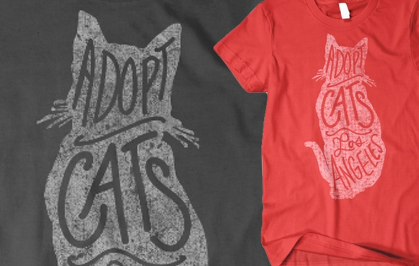 Carson Cats T-shirt closeups
