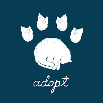 ResQThreads Adopt Cat Paw Print 400x