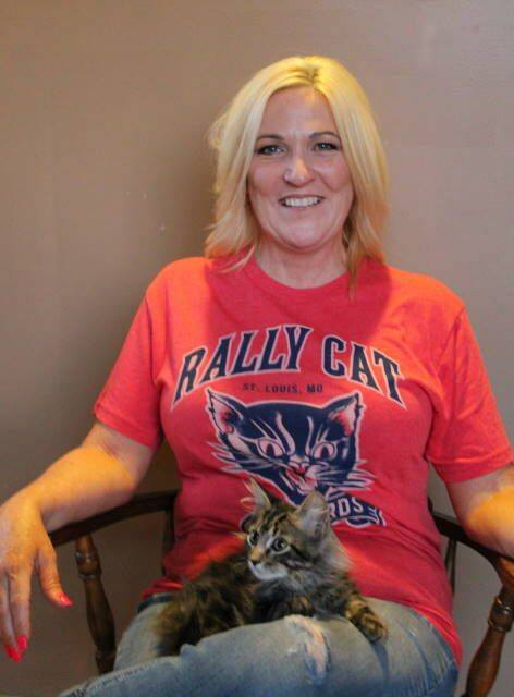 Rally cat with STFCO Board Member, Christine Oldenburg