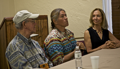 Guardian Franklin Adams, Miccosukee Elder Betty Osceola (niece of Guardian Buffalo Tiger), and Guardian Deb Jansen ©Connie Bransilver
