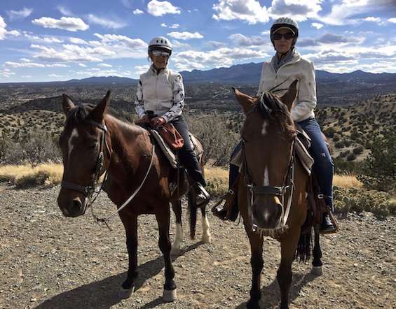 Two Riders in the Sandia Foothills ©Connie Bransilver