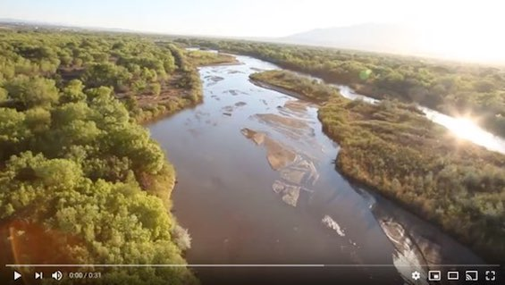 Ballooning Over the Rio Grande River Video ©Connie Bransilver