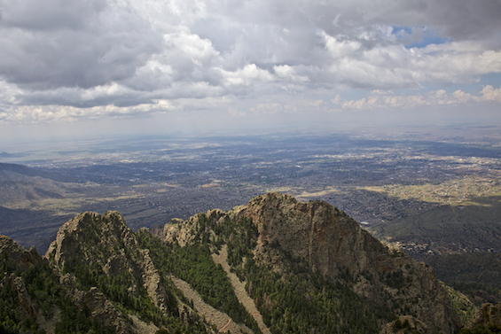 View from Sandia Crest over Albuquerque