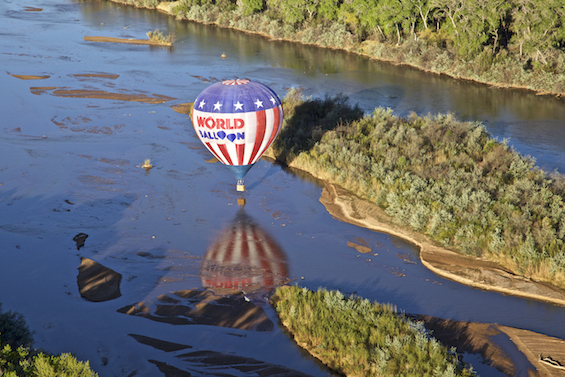 Balloon dip in the Rio Grande