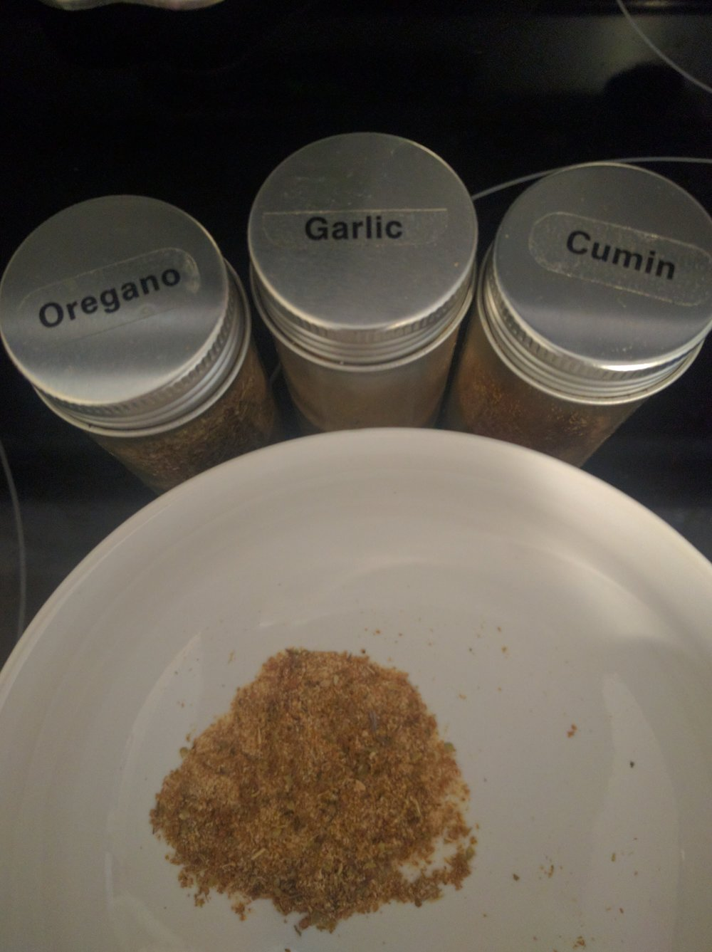 I find it helpful to mix your spices together as opposed to sprinkling them individually.