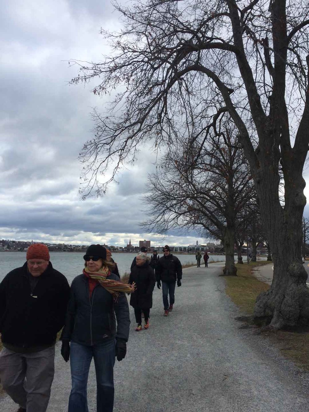 Walking Kailash in Portland, ME led by Julie Poitras Santos