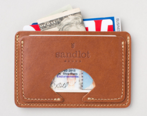 Sandlot Goods: Minimalist Wallet - Horween® Rio Latigo $35