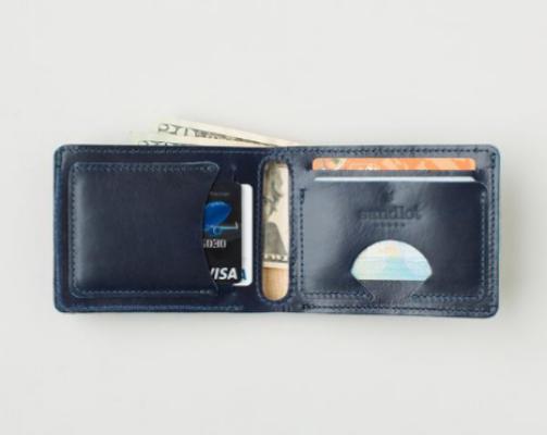 Sandlot Goods: Billfold Wallet - Horween® Ink Cavalier $85