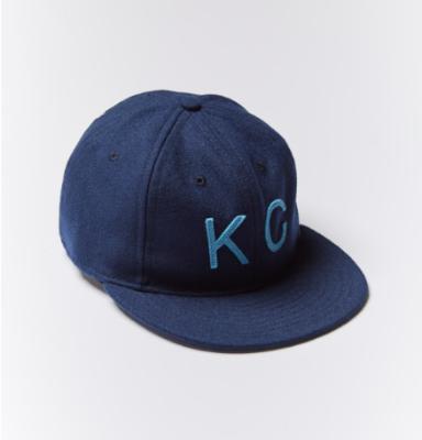 BALDWIN:  The KC Hat in Navy/Light Blue $48